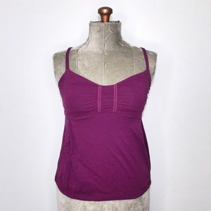 Lululemon Fuchsia Purple Ruched Tank Top Size 6